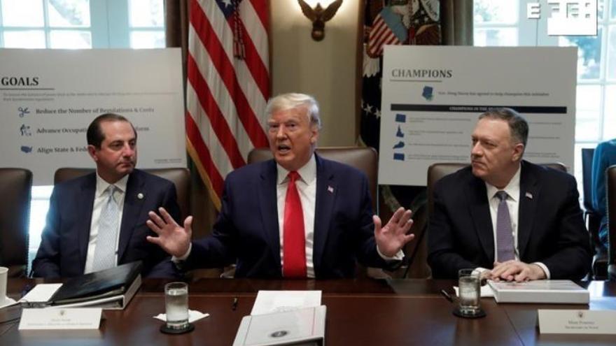 Trump insta a los republicanos a ser más duros y luchar contra un juicio político
