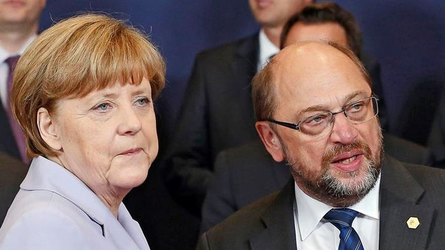 Los alemanes prefieren a Schulz como canciller frente a Merkel, según un sondeo