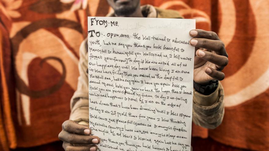 Mohamed, de 23 años, procedente de Somalia