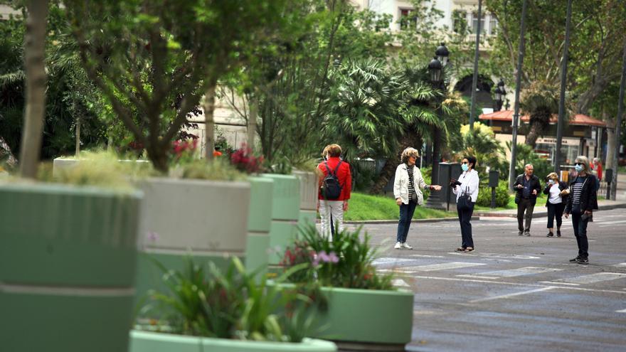 La plaza del Ayunamiento de València es ya un espacio para viandantes.