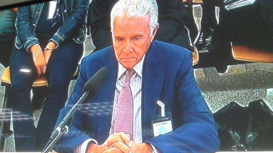 El constructor Alfonso García-Pozuelo durante su declaración en el juicio de Gürtel