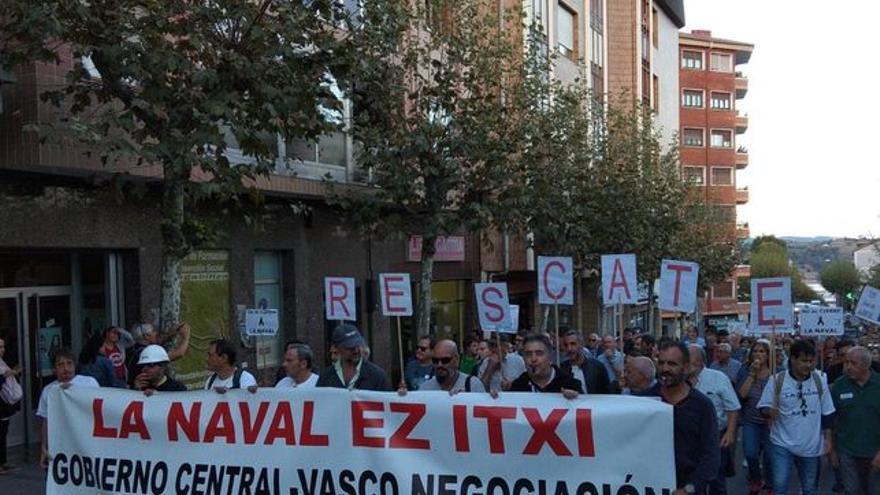 Manifestación en apoyo de La Naval