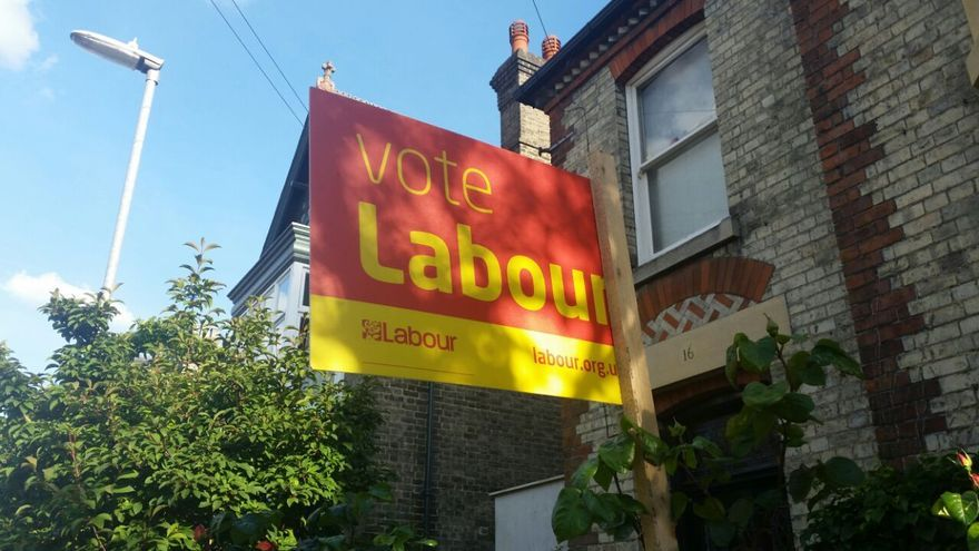 Cartel del partido laborista