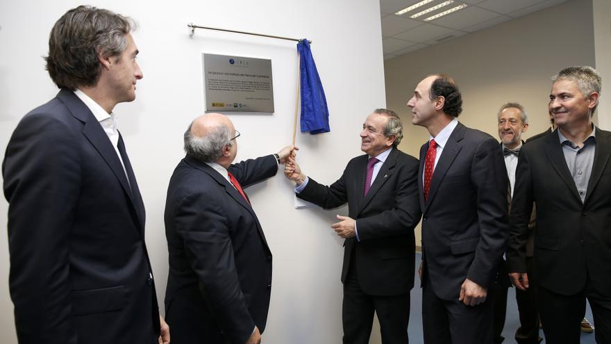Las autoridades, durante la inauguración este viernes de la nueva planta del IFCA.