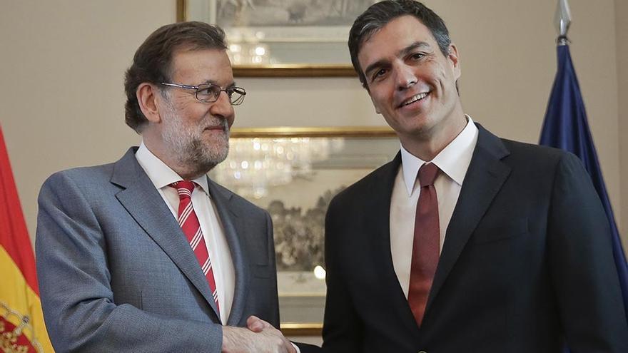 Rajoy y Sánchez en la última campaña electoral. EFE