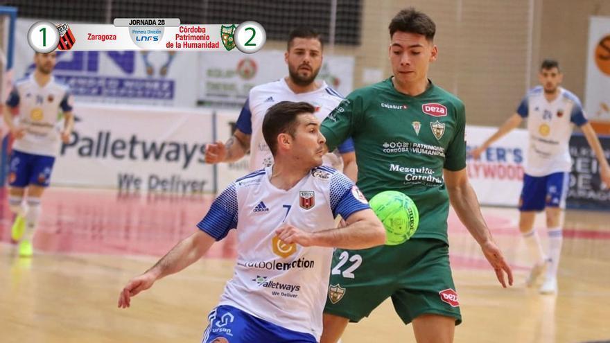 Ricardo, en el duelo con el Fútbol Emotion Zaragoza.