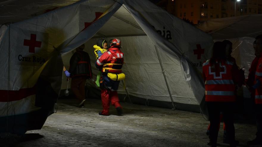 Imagen de la llegada de migrantes al Puerto de Málaga el pasado 26 de febrero   N.C.