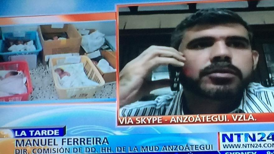 Información errónea sobre los neonatos en cajas en Venezuela.