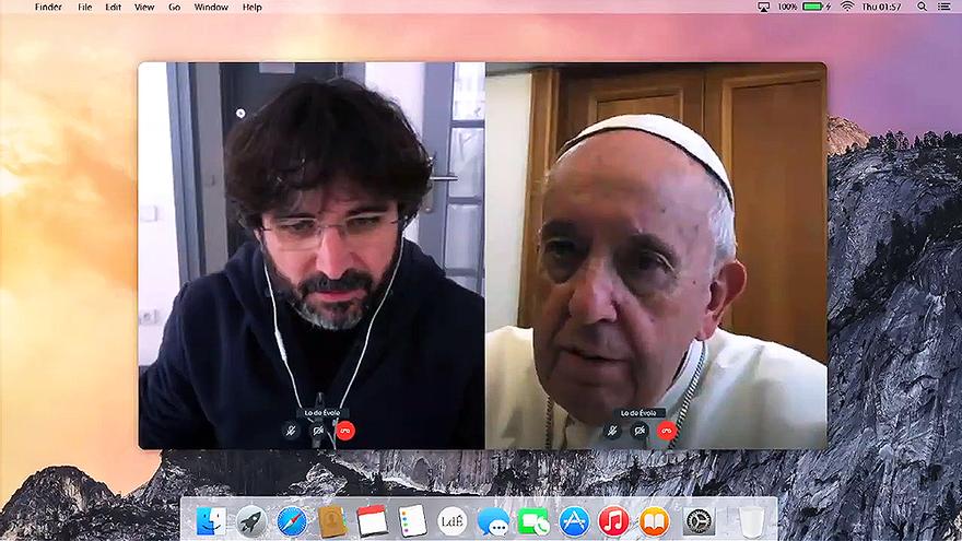Segunda cita de Évole con el Papa Francisco, ahora en videoconferencia por la cuarentena