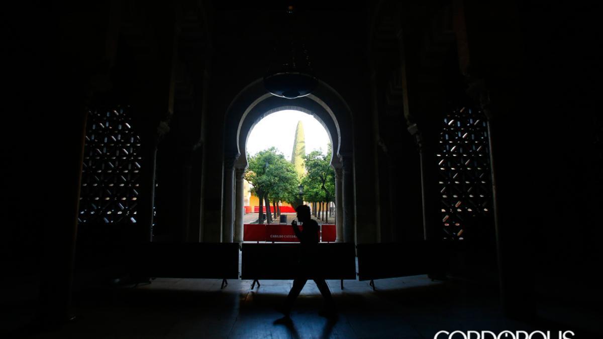 Interior de la Mezquita Catedral, con la celosía abierta