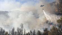 Se declara un incendio forestal en Montserrat (Valencia)