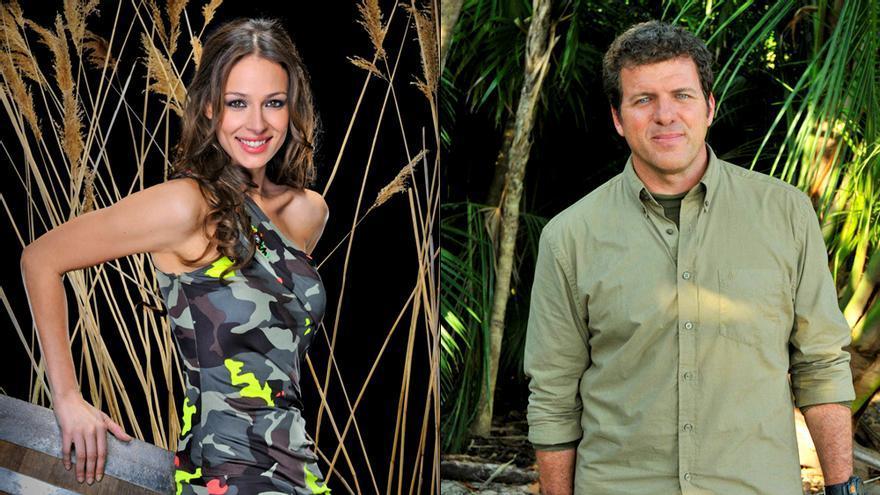 Eva González / Mario Picazo, en imágenes de archivo promocionales de 'Supervivientes'