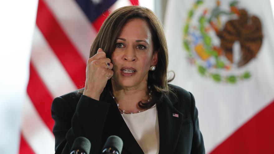 La migración se diluye dentro de las promesas de Harris en México