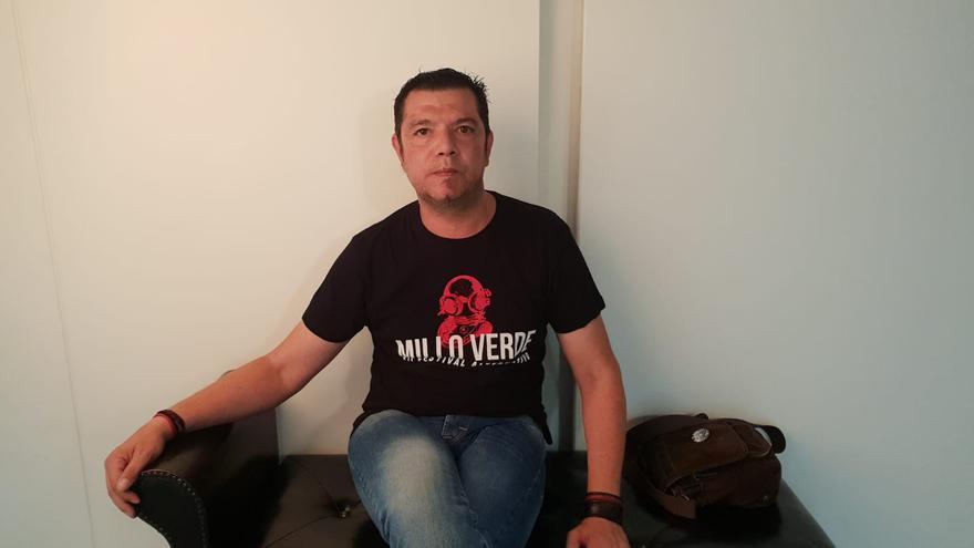 Marco Antonio Santos cabo del Ejército de Tierra que ha firmado el manifiesto antifranquista