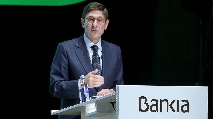 José Ignacio Goirigolzarri durant la junta d'accionistes de Bankia.