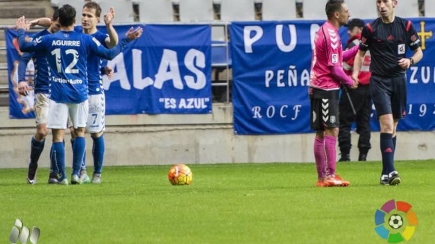 Imagen del encuentro en el Estadio Carlos Tartierre entre el Real Oviedo y el CD Tenerife.