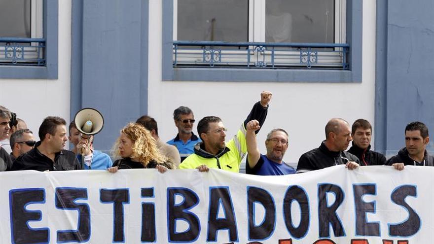 Poca actividad en los puertos de A Coruña y Ferrol por la huelga de la estiba