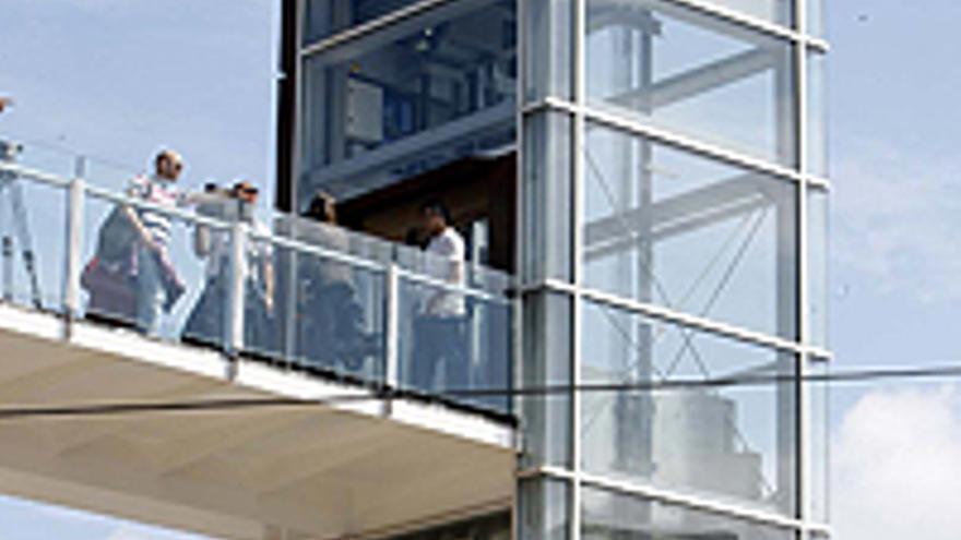 El ascensor inaugurado este lunes en Las Palmas de Gran Canaria.