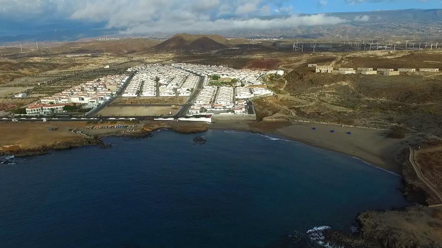 Imagen del litoral de Abades, en el término municipal de Arico (Tenerife)