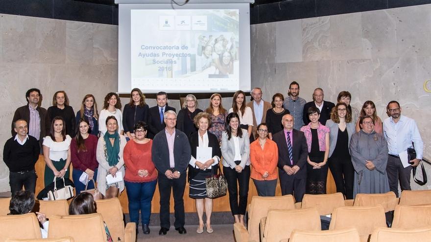 Representantes de las entidades ganadoras de la Convocatoria Canarias 2016