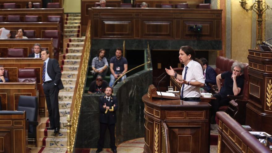 El líder de Unidos Podemos, Pablo Iglesias.