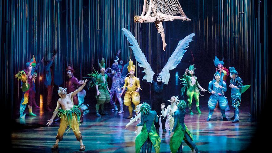 Instante de la actuación que realiza este fin de semana el Cirque du Soleil