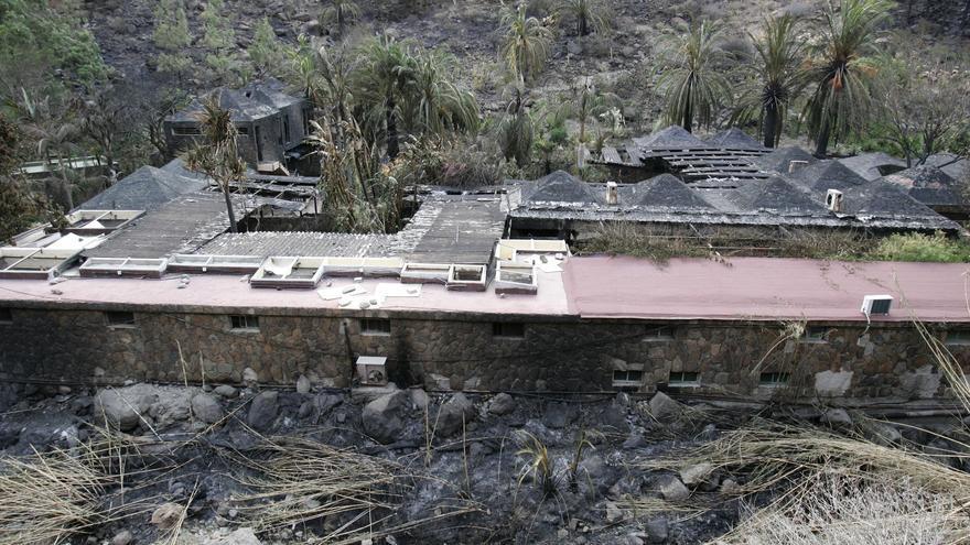 Instalaciones de Palmitos Park tras el incendio de 2007