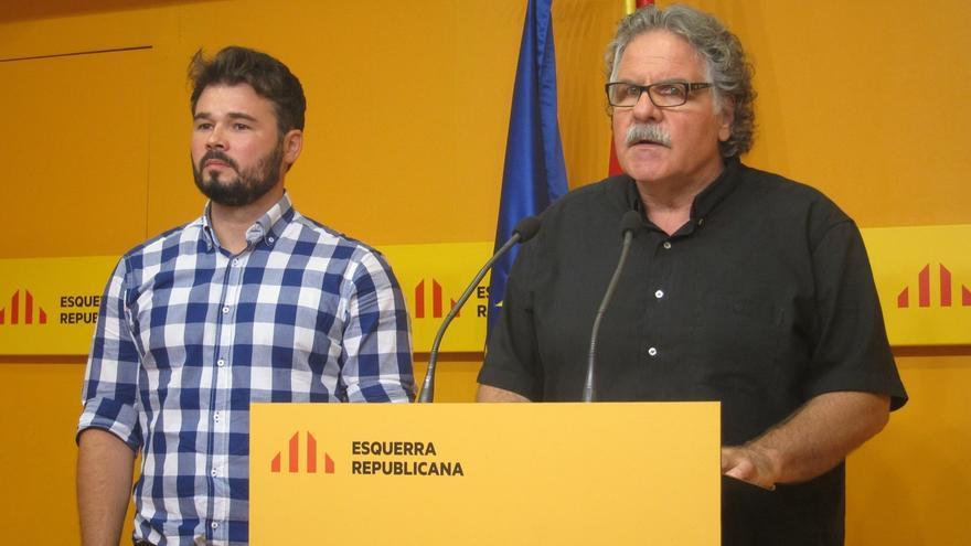 ERC descarta apoyar una investidura con PSOE, Unidos Podemos y C's si no hay referéndum