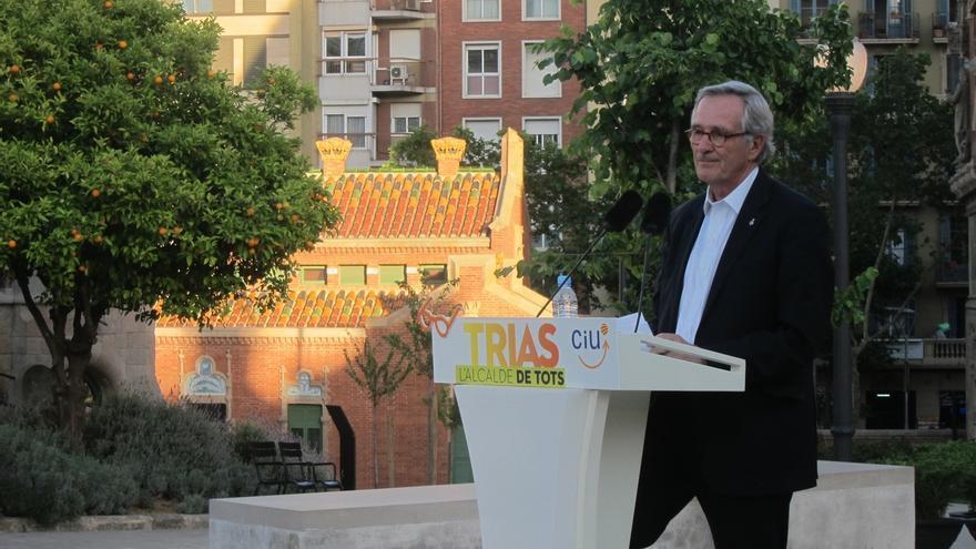 Trias (CiU) pide el voto para superar los 14 concejales y seguir priorizando las personas