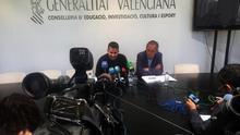 El conseller de Educación, Vicent Marzà, junto al secretario autonómico Miguel Soler