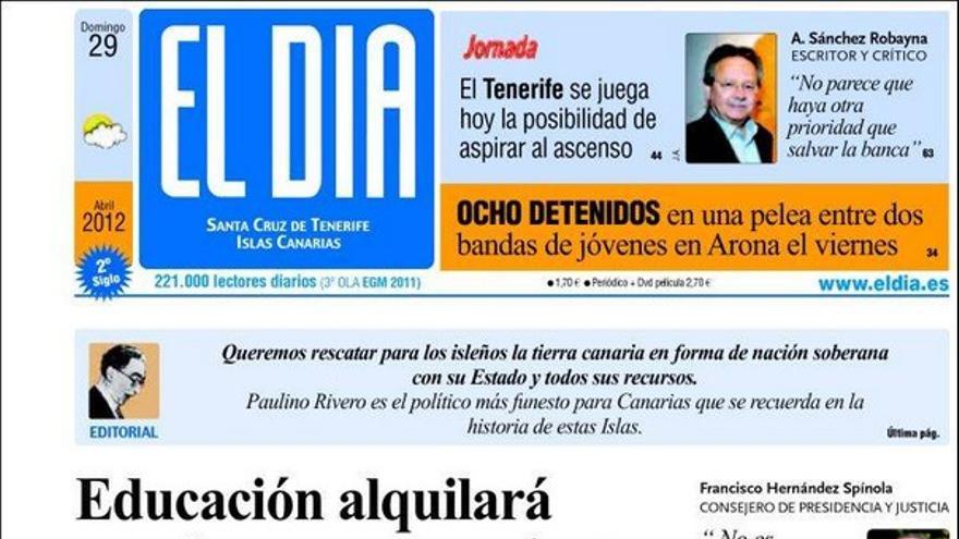 De las portadas del día (29/04/2012) #3