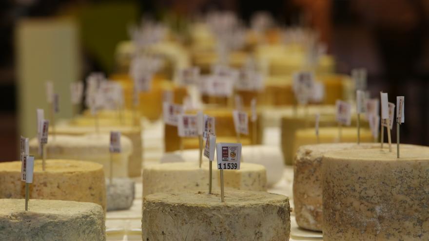 Algunos de los quesos participantes en el Salón Gourmets