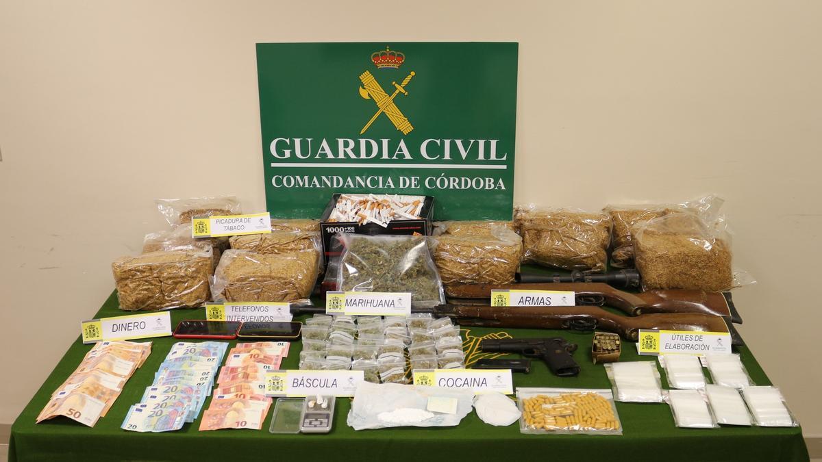 Cocaína y marihuana interceptada en Villanueva de Córdoba
