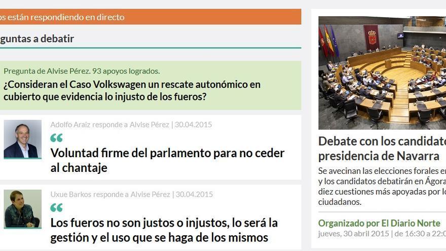 El debate digital protagonizado por nueve candidatos y candidatas de Navarra en 'osoigo.com'.