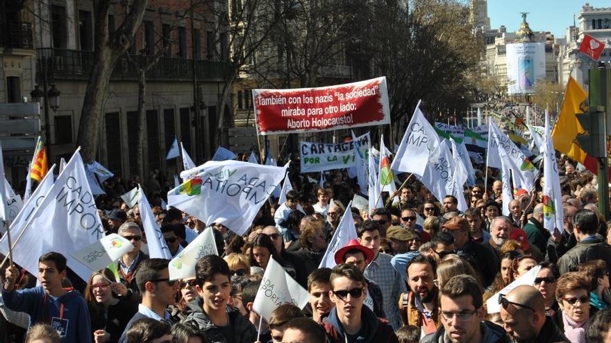 Manifestación en contra del aborto en Madrid. MERCEDES DOMENECH