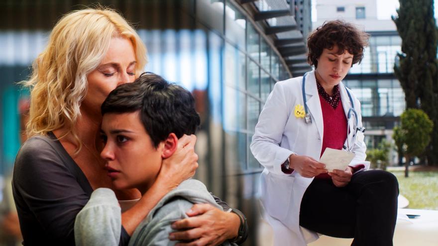 Belén Rueda, Carla Díaz y Aida Folch, en 'Madres'