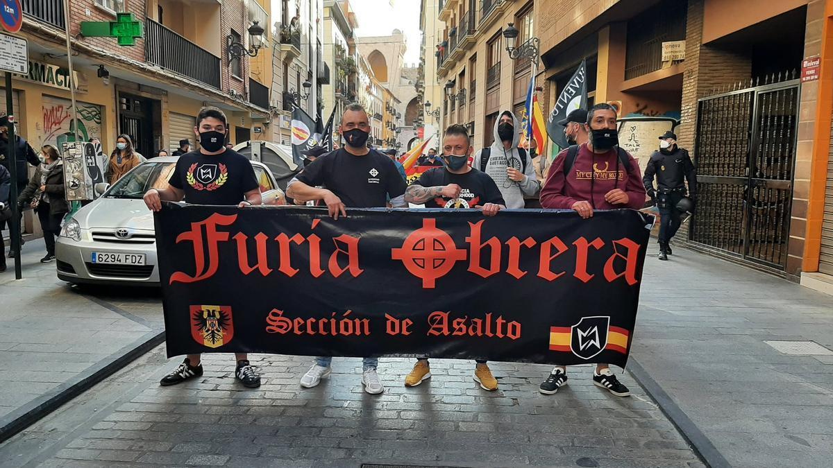 Marcha ultra el pasado 1 de mayo en el barrio de El Carme de Valencia.