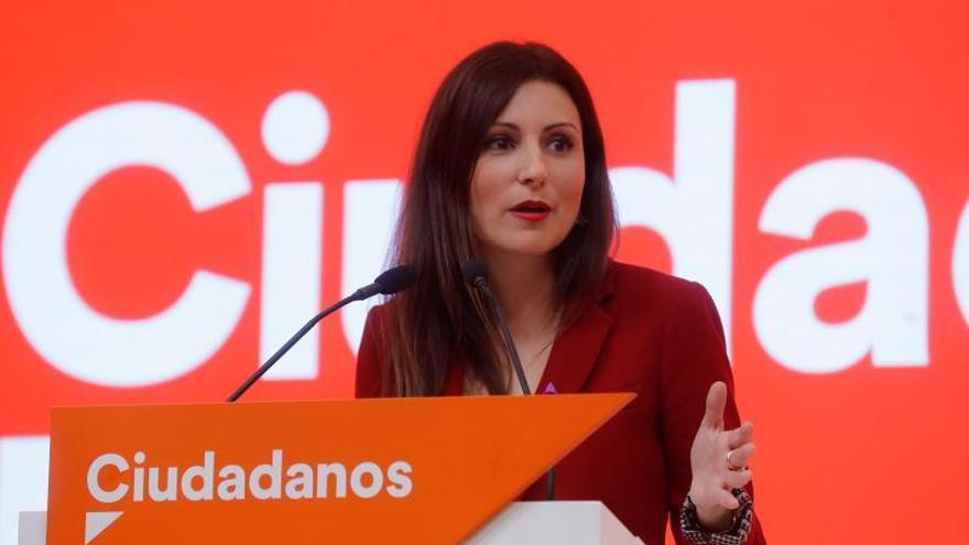 La portavoz de la Ejecutiva de Ciudadanos, Lorena Roldán.