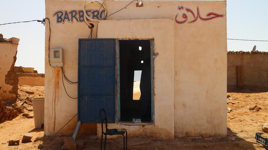 Barbería en el campo de refugiados de Dajla en Tindouf (Argelia).   Gabriela Sánchez