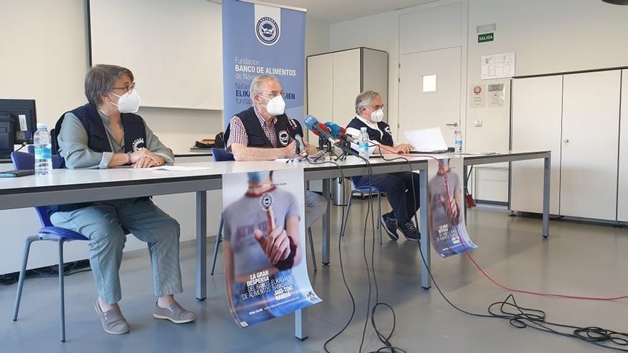 Rueda de prensa de la Fundación Banco de Alimentos de Navarra