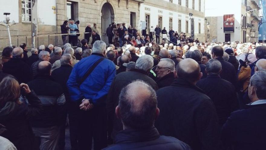 Movilización de pensionistas en Vigo