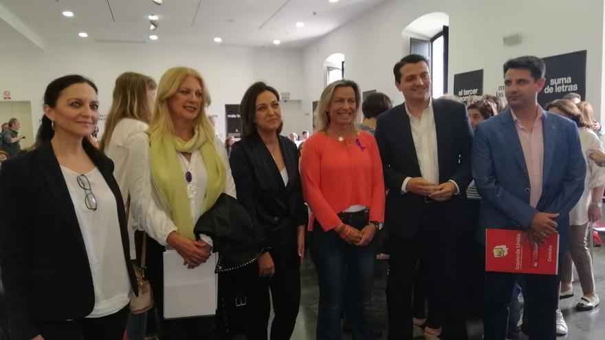 Los candidatos de los seis principales partidos en Córdoba al inicio del debate sobre políticas de Igualdad.
