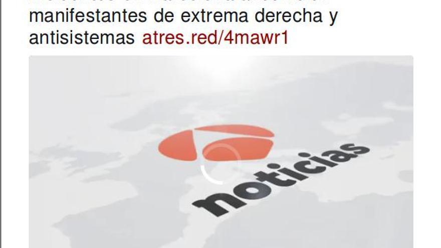 """Extrema derecha y """"antisistemas"""", según Antena 3"""