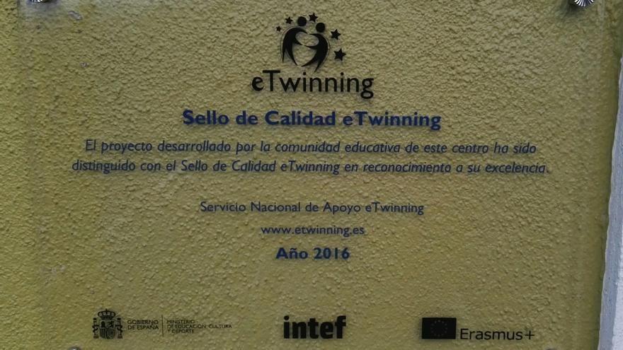 En la imagen, el sello de calidad concedido a la Escuela Infantil de Tijarafe.