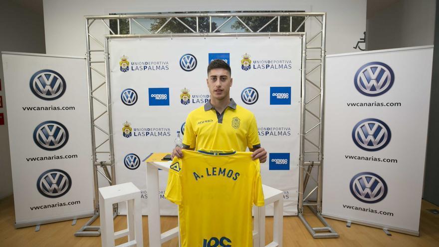 Álvaro Lemos, jugador de la UD Las Palmas