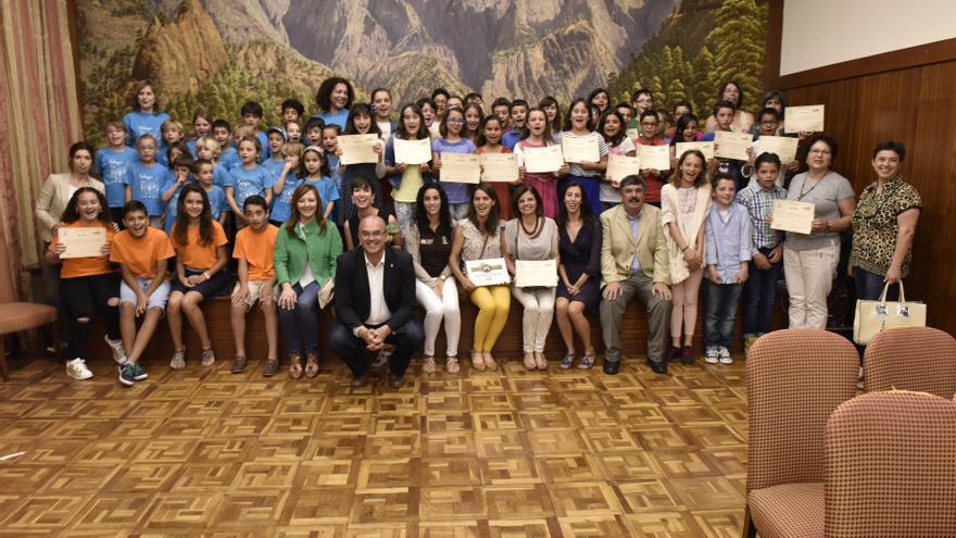 Acto de entrega de premios celebrada hoy en el Cabildo.