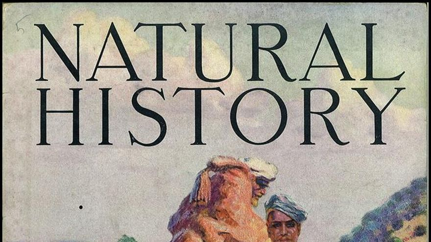 "Portada del ejemplar de febrero de 1935 de la revista ""Natural History. Journal of The American Museum of Natural History"""