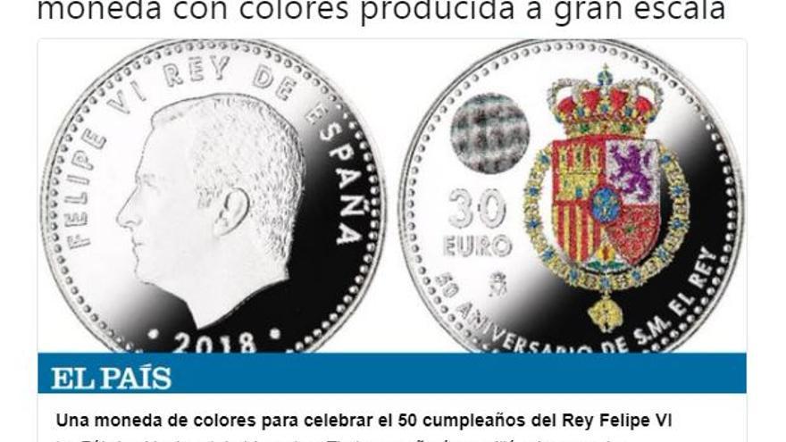 Moneda del rey Felipe VI