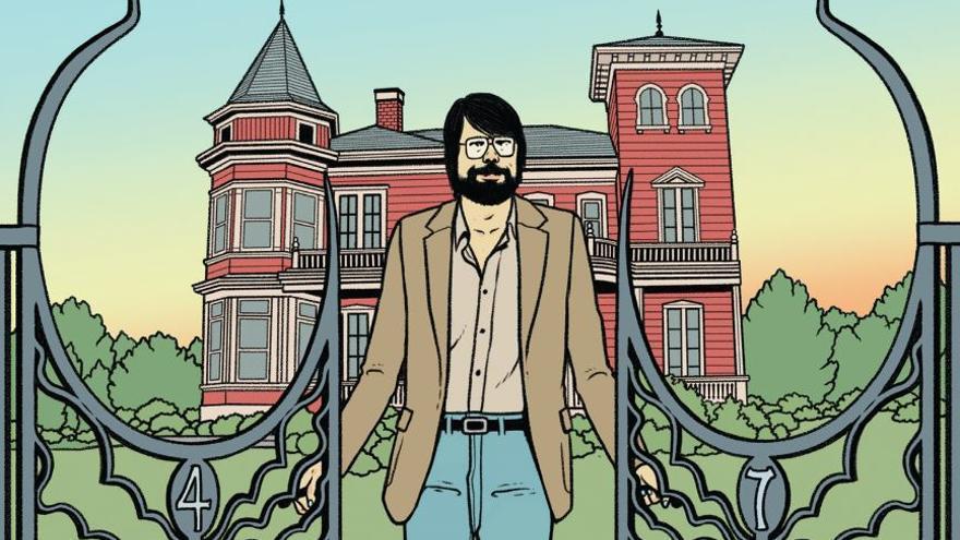 Ilustración de David Sánchez para la portada de 'The King'