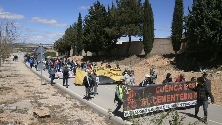 Séptima marcha contra el ATC en Villar de Cañas